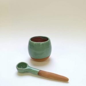 Sugar Bowl with optional spoon by Doolin Cave Pottery